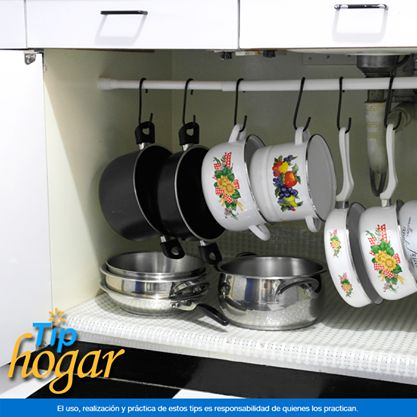 Organizar colgar las ollas cocina 8 decoracion de for Maduras en la cocina