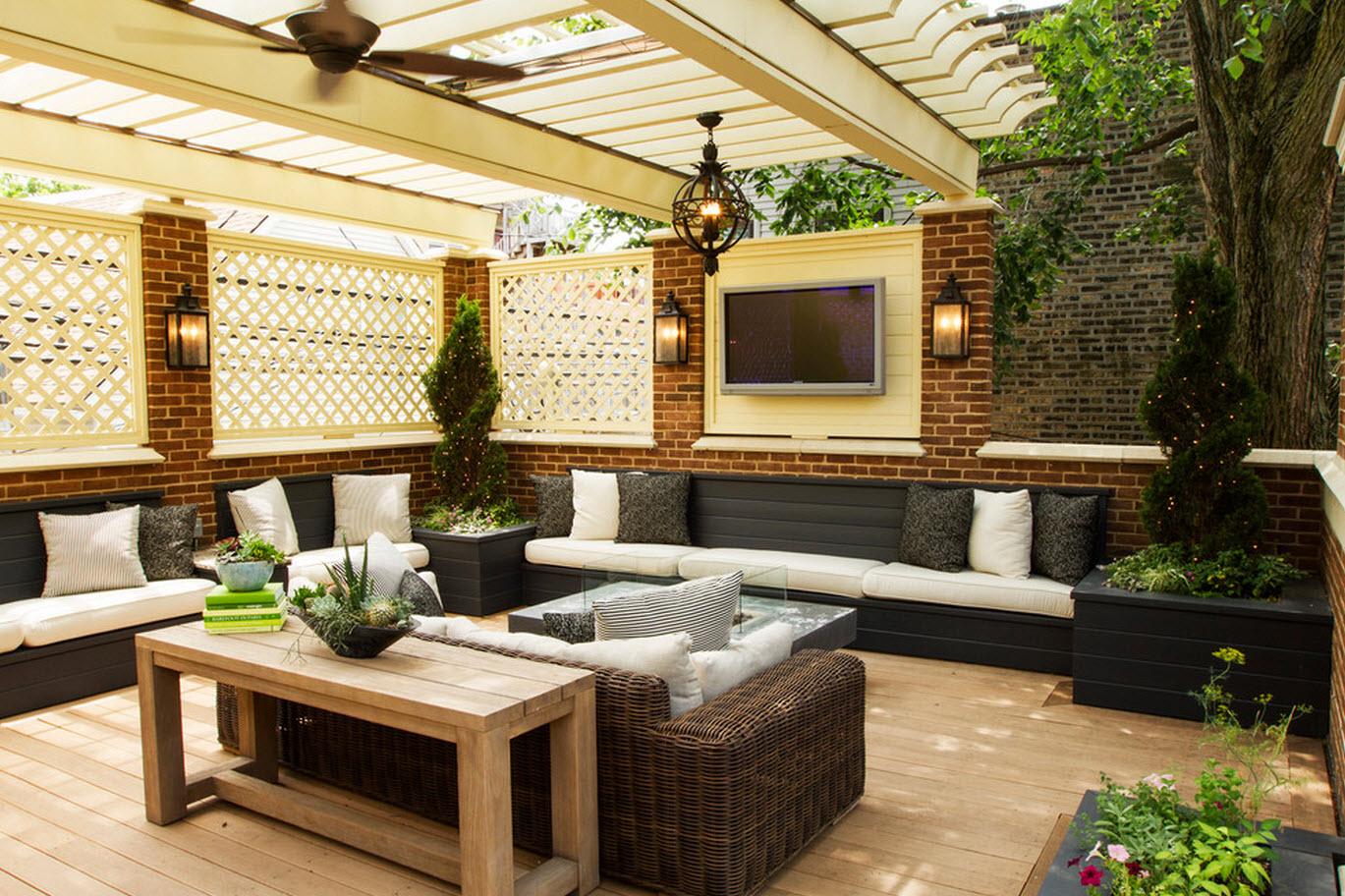 27 fotos terrazas casas modernas 17 for Comedores exteriores para terrazas