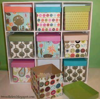 27 ideas diy para reciclar tus cajas de carton 12 - Cajoneras decoradas ...