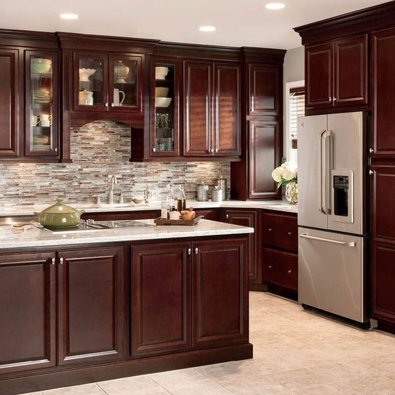 Kitchen Cabinets Cherry Wood: Cocinas-color-chocolate (21