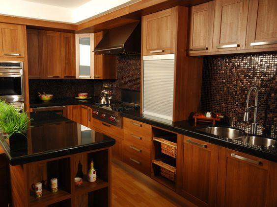 Cocinas color chocolate como organizar la casa - Cocinas clasicas elegantes ...