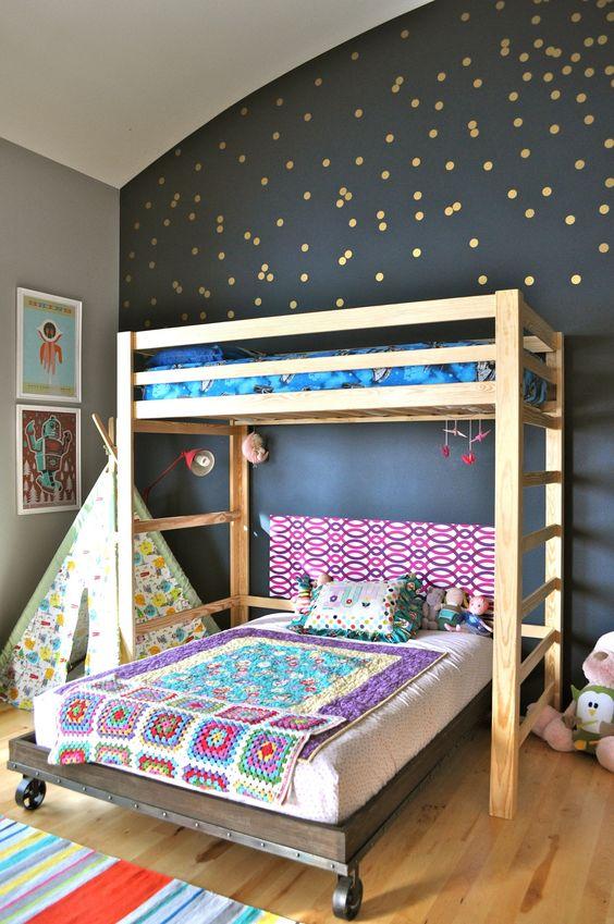 Cuartos compartidos nino nina 20 como organizar la for Modelos de dormitorios para ninos