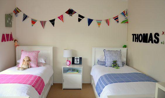 cuartos-compartidos-nino-nina (22) | Como Organizar la Casa ...