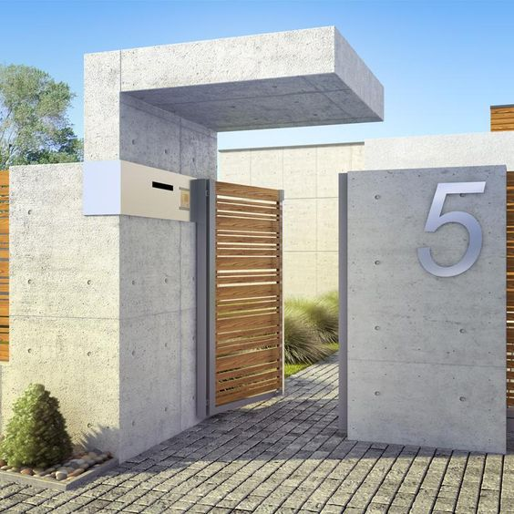 dise os de bardas de cemento para tu casa como organizar la casa fachadas decoracion de. Black Bedroom Furniture Sets. Home Design Ideas