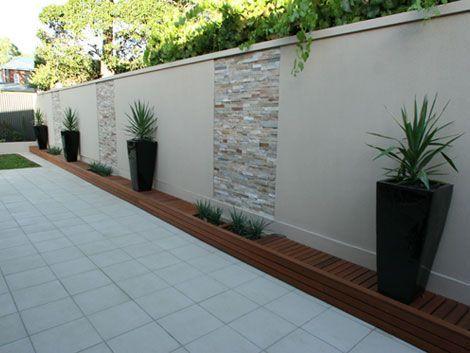 Dise os de bardas de cemento para tu casa decoracion de - Colocar piedra en pared ...