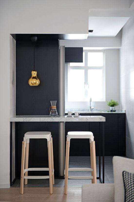 Disenos cocinas pequenas barra 18 Disenos cocinas pequenas para apartamentos