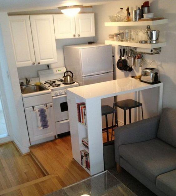 disenos-cocinas-pequenas-barra (21) | Decoracion de interiores ...