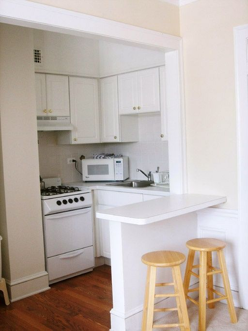 disenos-cocinas-pequenas-barra (22) | Como Organizar la Casa ...