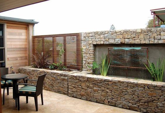 Dise os de revestimiento para paredes interiores y exteriores - Revestimiento paredes interiores pizarra ...