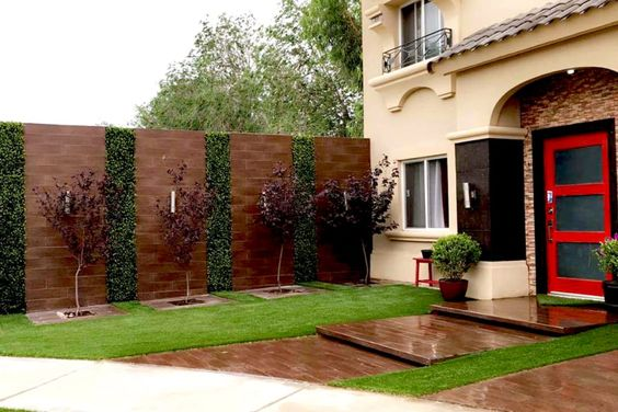 Disenos revestimiento paredes interiores exteriores 14 for Decoracion pared exterior