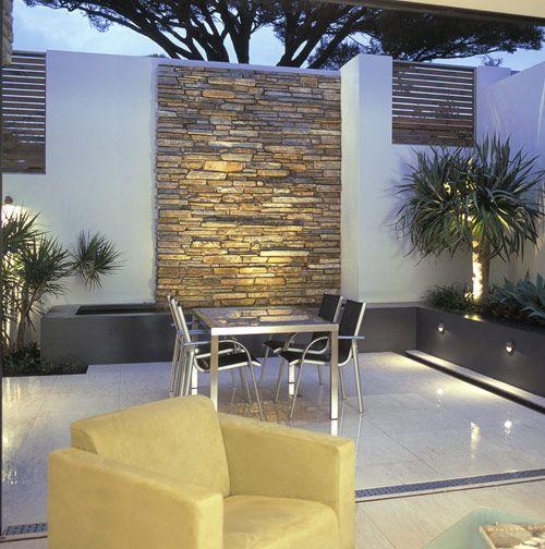 Dise os de revestimiento para paredes interiores y - Colocar piedra en pared ...