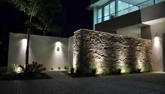 Dise os de revestimiento para paredes interiores y - Iluminacion decorativa exterior ...