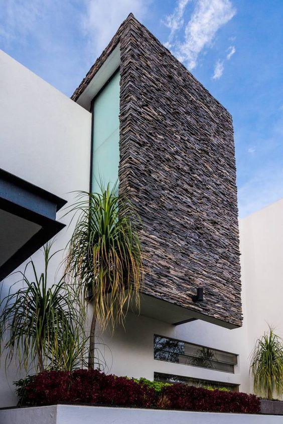 Dise os de revestimiento para paredes interiores y - Decoracion exteriores casas modernas ...
