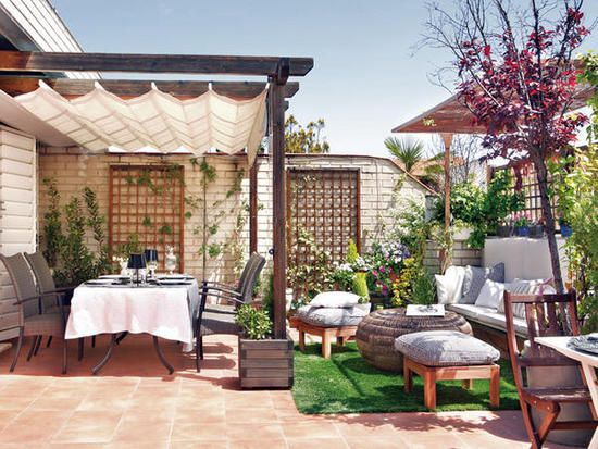 Disenos toldos terrazas 18 decoracion de interiores for Piedras para decorar patios