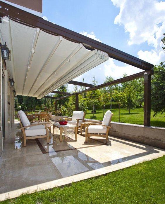 Disenos toldos terrazas 5 decoracion de interiores for Toldos para patios pequenos
