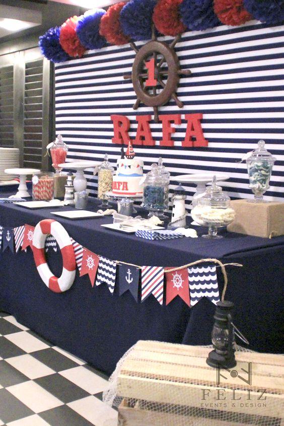 Fiesta infantil tematica marinero 11 decoracion de interiores fachadas para casas como - Fiesta marinera decoracion ...