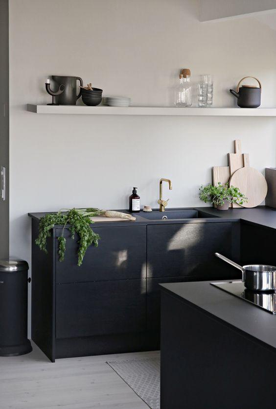 ideas decorar cocinas color negro 6   Como Organizar la ...
