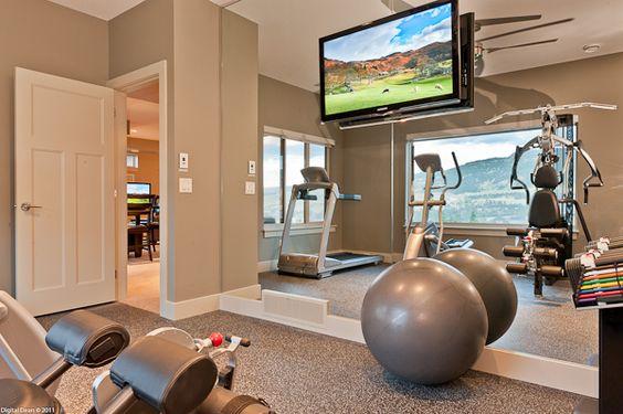 Ideas para montar un gym en casa como organizar la casa fachadas decoracion de interiores - Casa con gimnasio ...