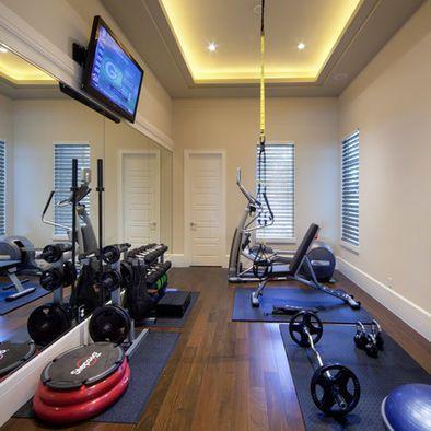 Ideas para montar un gym en casa decoracion de for Espejos para gimnasio