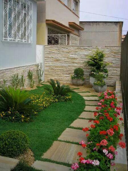 Jardines para entradas y pasillos decoracion de interiores fachadas para casas como organizar - Entradas y pasillos ...