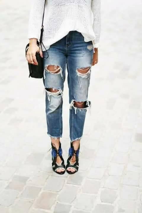 jeans-rotos-verano-2019 (19) | Como Organizar la Casa ...