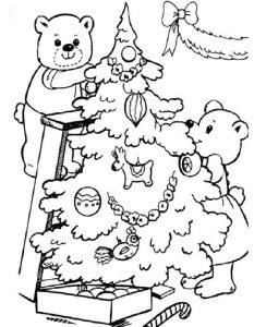 pinos de navidad para colorear