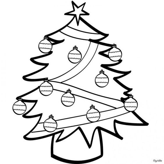 pinos de navidad para colorear |