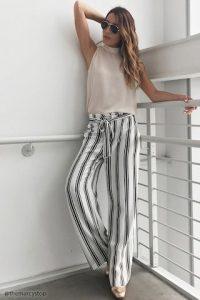 Tendencia en palazzos y jumpsuits con rayas ¡Te van a encantar!