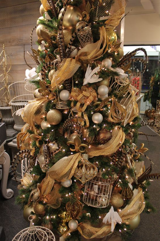 Silver And Gold Christmas Garland
