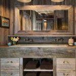 25 ideas para darle a tu baño un toque rústico