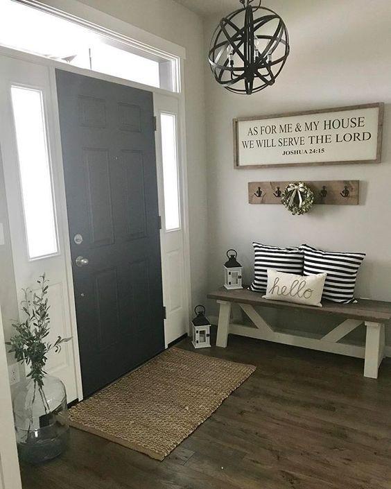 25 ideas para decorar la entrada de tu casa for Decorar entrada chalet