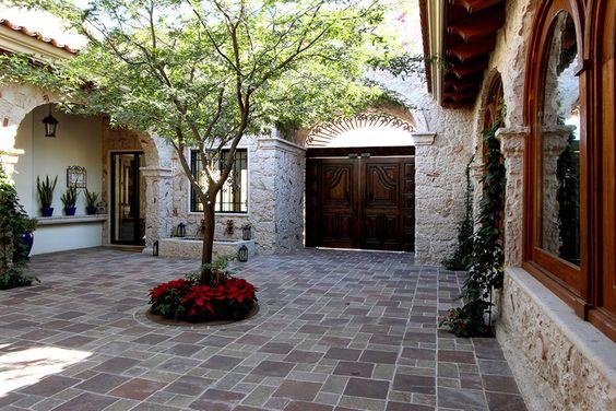 27 disenos pisos patio la entrada casa 12 Decoraciones para porches de casas
