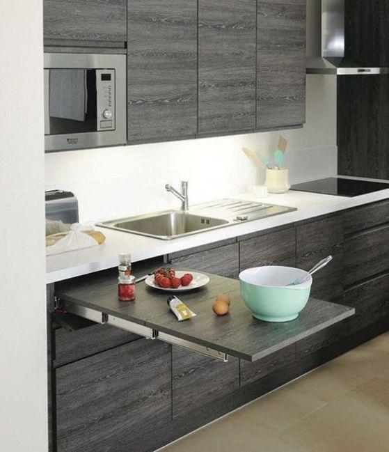 27 ejemplos disenar correctamente una cocina pequena 14 Como organizar una cocina pequena fotos