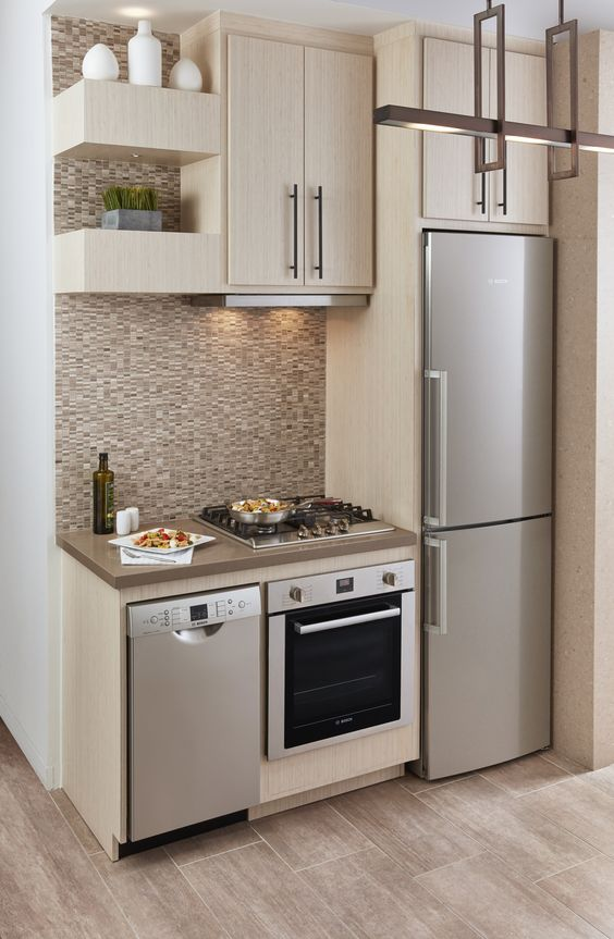 27 ejemplos disenar correctamente una cocina pequena 15 for Como disenar una cocina pequena