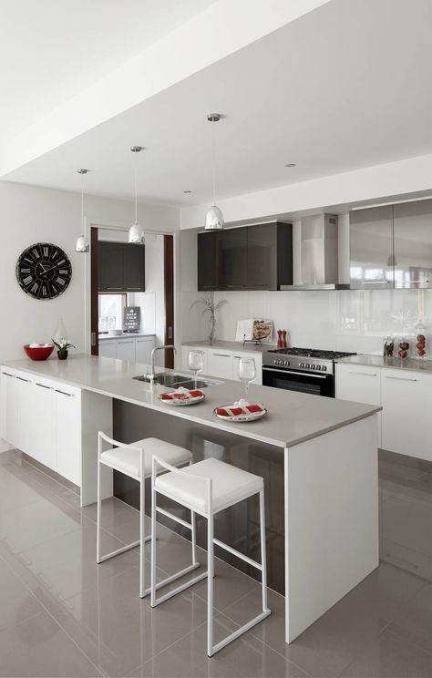 27 ejemplos disenar correctamente una cocina pequena 20 como organizar la casa fachadas - Ejemplos cocinas pequenas ...