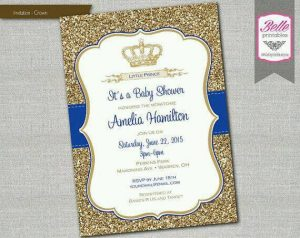 Baby shower azul con dorado