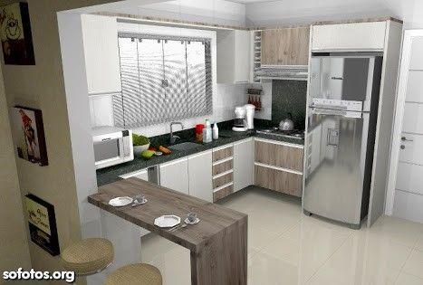 Cocinas en l que te van a gustar si tu casa es peque a for Cocinas modernas pequenas en forma de l