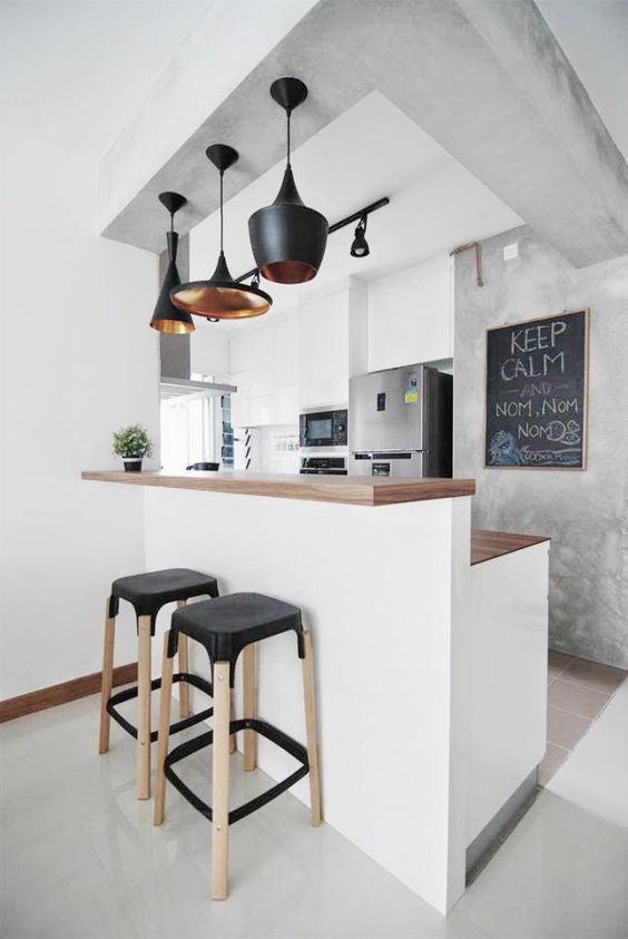Small kitchens with bar