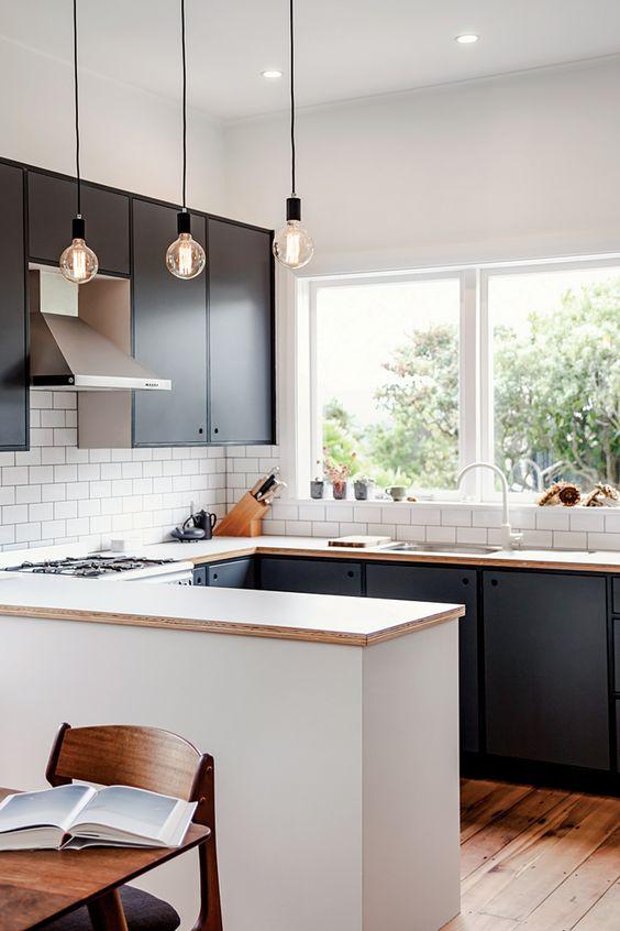 Cocinas peque as grandes ideas para espacios reducidos Cocinas pequenas con barra