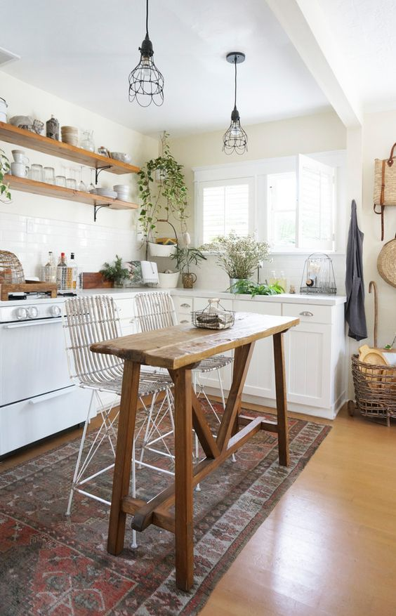 Small rustic kitchens