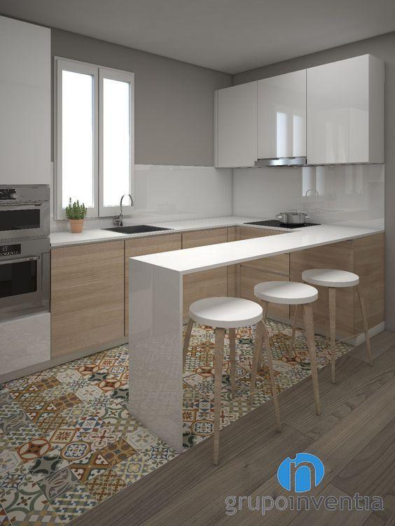 Cocinas peque as grandes ideas para espacios reducidos - Disenos de cocinas pequenas y sencillas ...