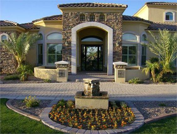 Diseo de casas con entradas preciosas y modernas