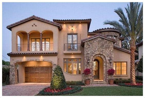 Dise o de casas con entradas preciosas y modernas for Fachadas de casas bonitas y economicas