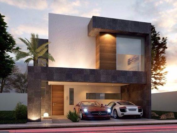 Fachadas casas modernas 24 como organizar la casa for Fachadas de casas modernas entre medianeras