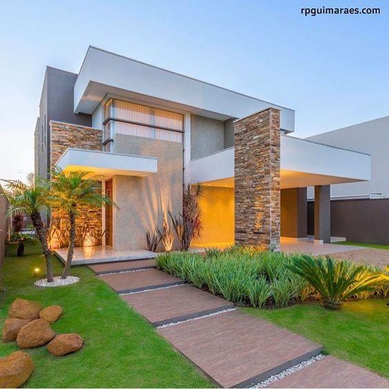 Ideas De Diseño De Jardines Residenciales: Fachadas-casas-modernas (26)