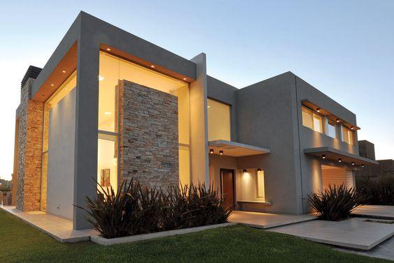 Fachadas de casas modernas for Fachadas de viviendas de una planta