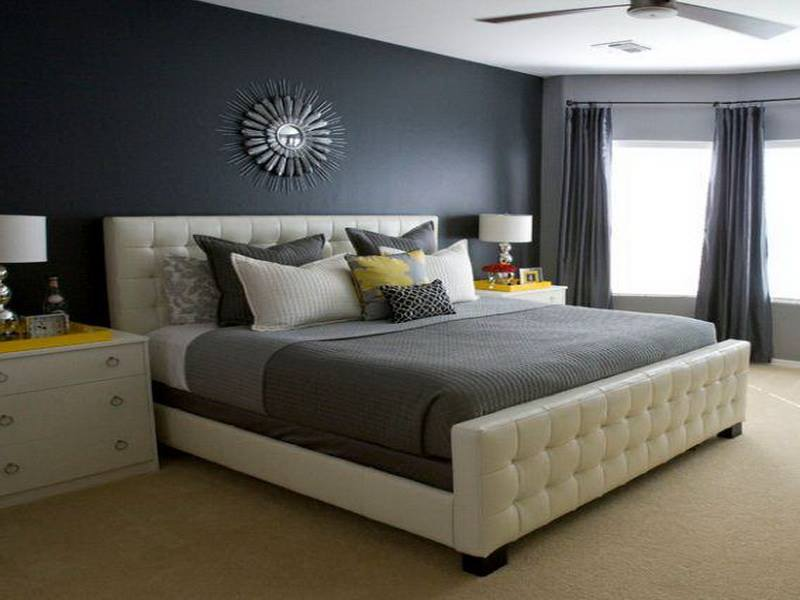 Black Accent Wall Master Bedroom