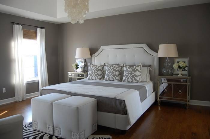 Habitaciones decoradas en color gris 9 - Camas decoradas ...