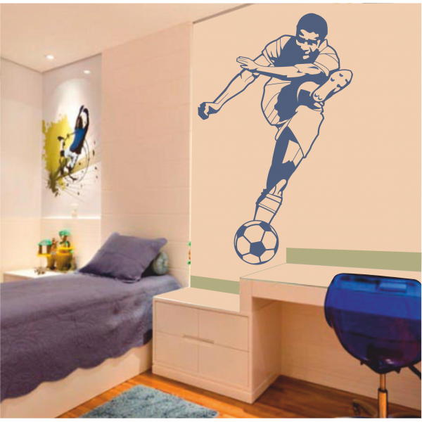 Habitaciones para ni os decoradas con tema de futbol for Decoracion en pared para ninos