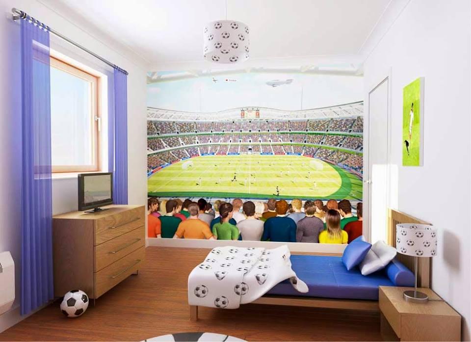 Habitaciones ninos decoradas tema futbol 11 decoracion for Habitaciones decoradas para ninos